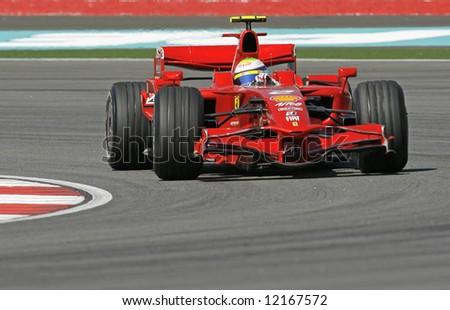 Ferrari's Brazilian F1 driver Felipe Massa - stock photo