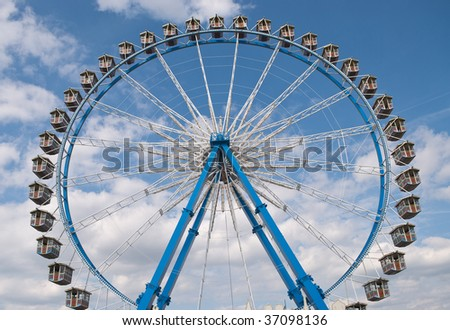Ferris Wheel at the Oktoberfest in Munich, Germany - stock photo