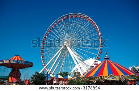 Ferris Wheel Chicago - stock photo