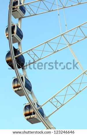 Ferris wheel for celebration new year 2013 - stock photo