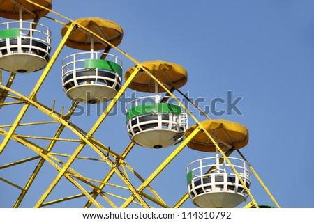 Ferris wheel in Luna Park along the Corniche, Beirut, Lebanon, Middle East - stock photo