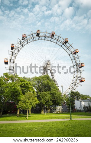 Ferris wheel in Prater - Vienna, Austria - stock photo