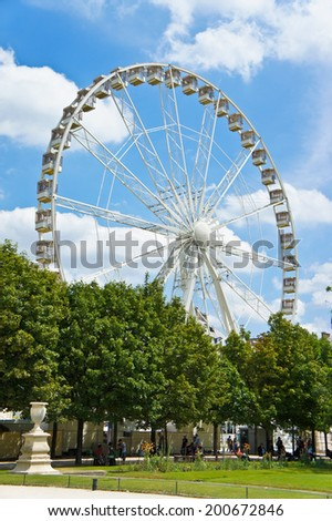 Ferris Wheel in the Tuileries Gardens, Paris