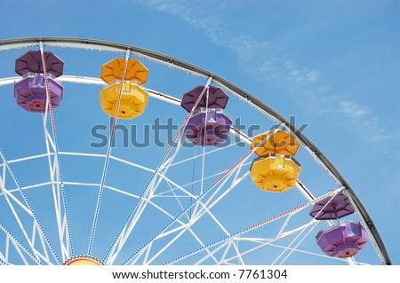 Ferris Wheel on Santa Monica Pier - stock photo