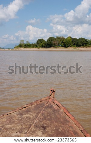 Ferry-boat crossing - stock photo