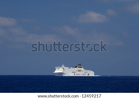 Ferry boat in Greece