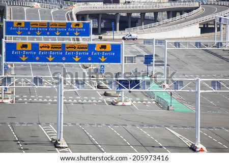 Ferry terminal in Calais, France - stock photo