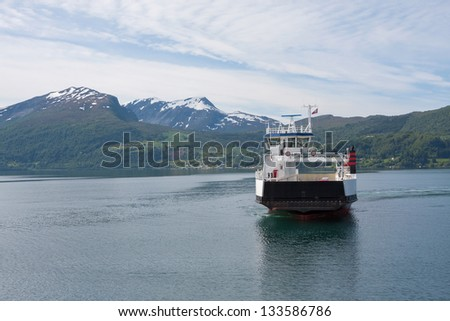 Ferry Volda - Lauvstad (Norway) - stock photo
