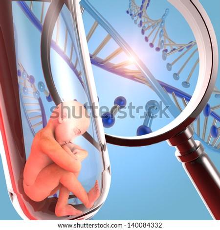 Fertilization, human cloning - stock photo