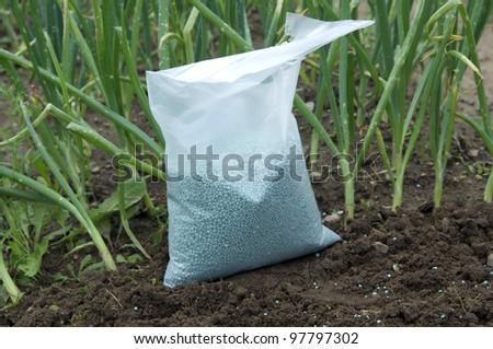 fertilizer bag - stock photo
