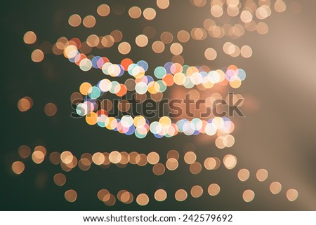 Festive abstract background with bokeh defocused lights and stars  - stock photo