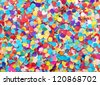 festive background of confetti - stock photo