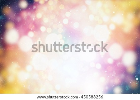 Festive background with natural and bright lights. Vintage Magic background with colorful . Spring Summer Christmas New Year disco party background