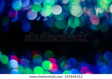 Festive background with natural bokeh and bright golden lights. Vintage Magic background with colorful bokeh. - stock photo