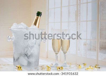 Festive champagne - stock photo