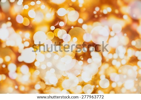 Festive Christmas background. Elegant abstract background with bokeh defocused lights and stars  - stock photo