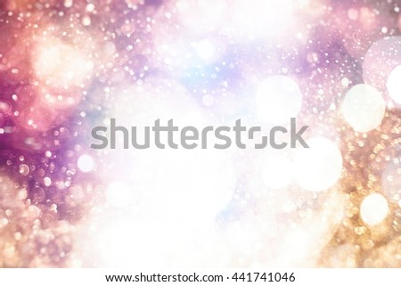 Festive Christmas background. Elegant abstract background with lights and stars  - stock photo