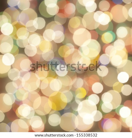 Festive Christmas background with bokeh lights, for design - stock photo