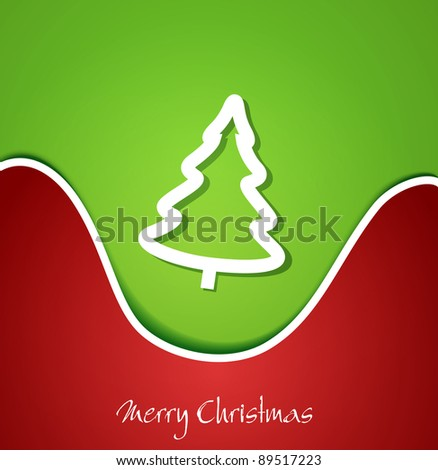 festive Christmas background with Christmas tree (JPEG version) - stock photo