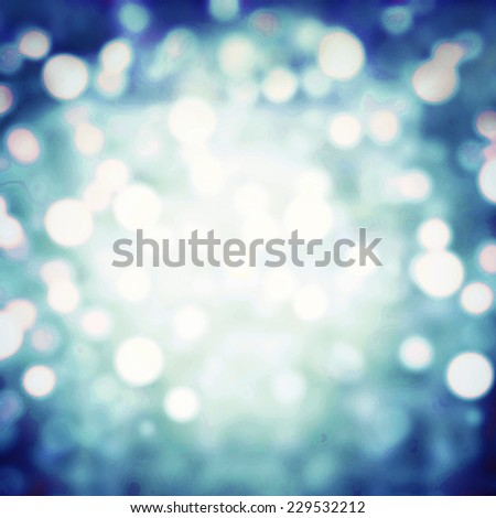 Festive Christmas  bokeh lights background with multi layers and colors of white silver and blue defocused lights background abstract boke lights. Crystal Background Texture - stock photo