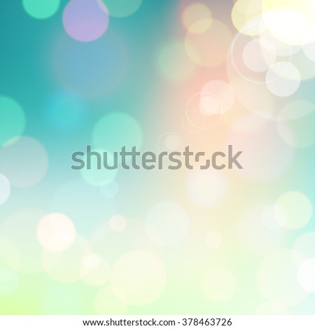 Festive colorful background of blue and green colors with bokeh defocused lights. - stock photo