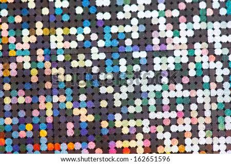 festive colorful lights - stock photo