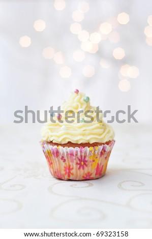 Festive cupcake - stock photo