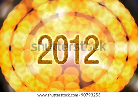 festive decoration for a happy new year 2012 and merry christmas - stock photo