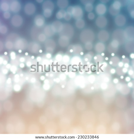 Festive lights Christmas background with twinkled bright background with bokeh defocused silver lights - stock photo