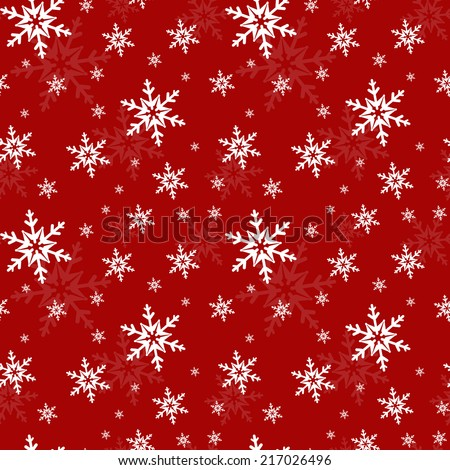 Festive seamless pattern with snowflakes. Raster illustration. - stock photo