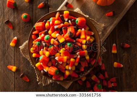 Festive Sugary Halloween Candy Ready to Eat - stock photo