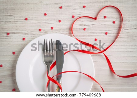 Festive Table Setting Valentines Day Fork Stock Photo (Download Now) 779409688 - Shutterstock  sc 1 st  Shutterstock & Festive Table Setting Valentines Day Fork Stock Photo (Download Now ...