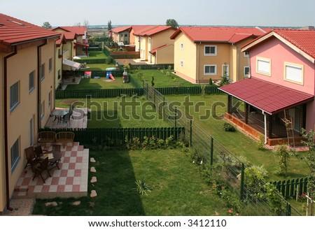 few houses - stock photo