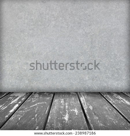 fiber cement board texture,gray color with gray wood floor - stock photo