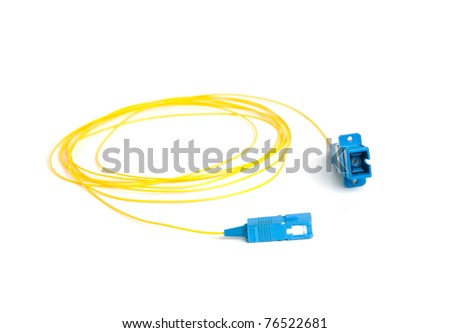 fiber connectors. fiber cable. single mode fiber - stock photo
