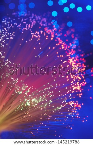 Fiber Optic Light Wand close up - stock photo