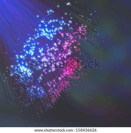fiber optical picture with details and light effects - stock photo