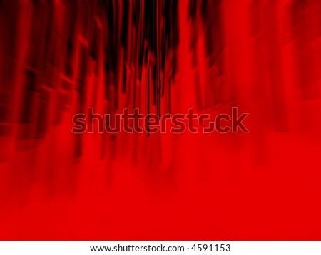fiber optics in red - stock photo