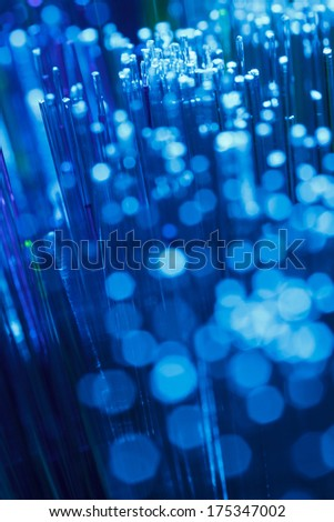 Fiber optics lights abstract background - stock photo
