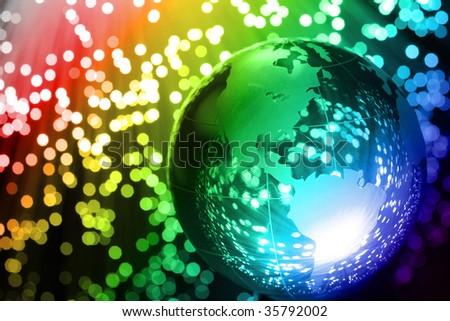 Fibre Optical - stock photo