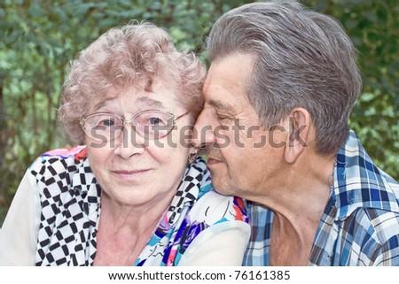 fidelity of beautiful senior couple - stock photo