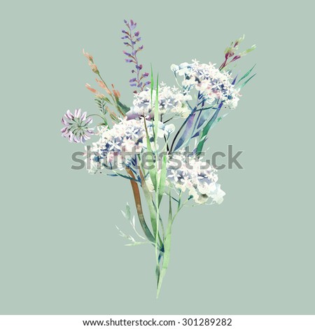 Field Flowers Bouquet  - stock photo