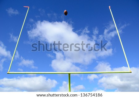 Field Goal, American Football and Goal Posts - stock photo