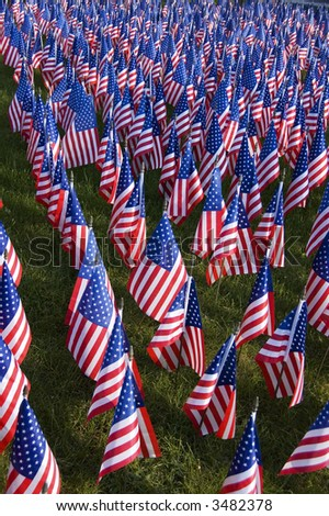 Field of Flags - stock photo