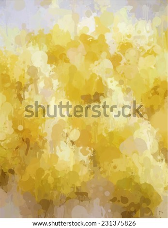 Field of rye brush stroke paint. Abstract illustration. - stock photo