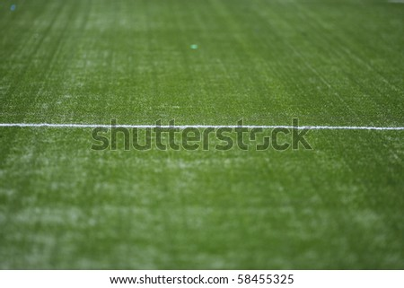 Field turf on a professional soccer field - stock photo
