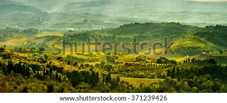 Fields in Tuscany - stock photo