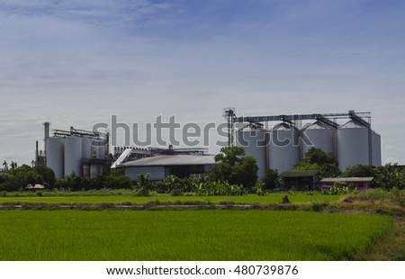 Fields of grain silos, Grain silo