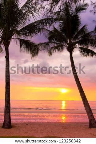 Fiery Backdrop Sunset Divine - stock photo