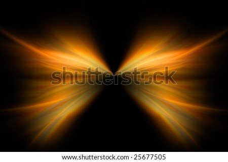 fiery butterfly, abstract background